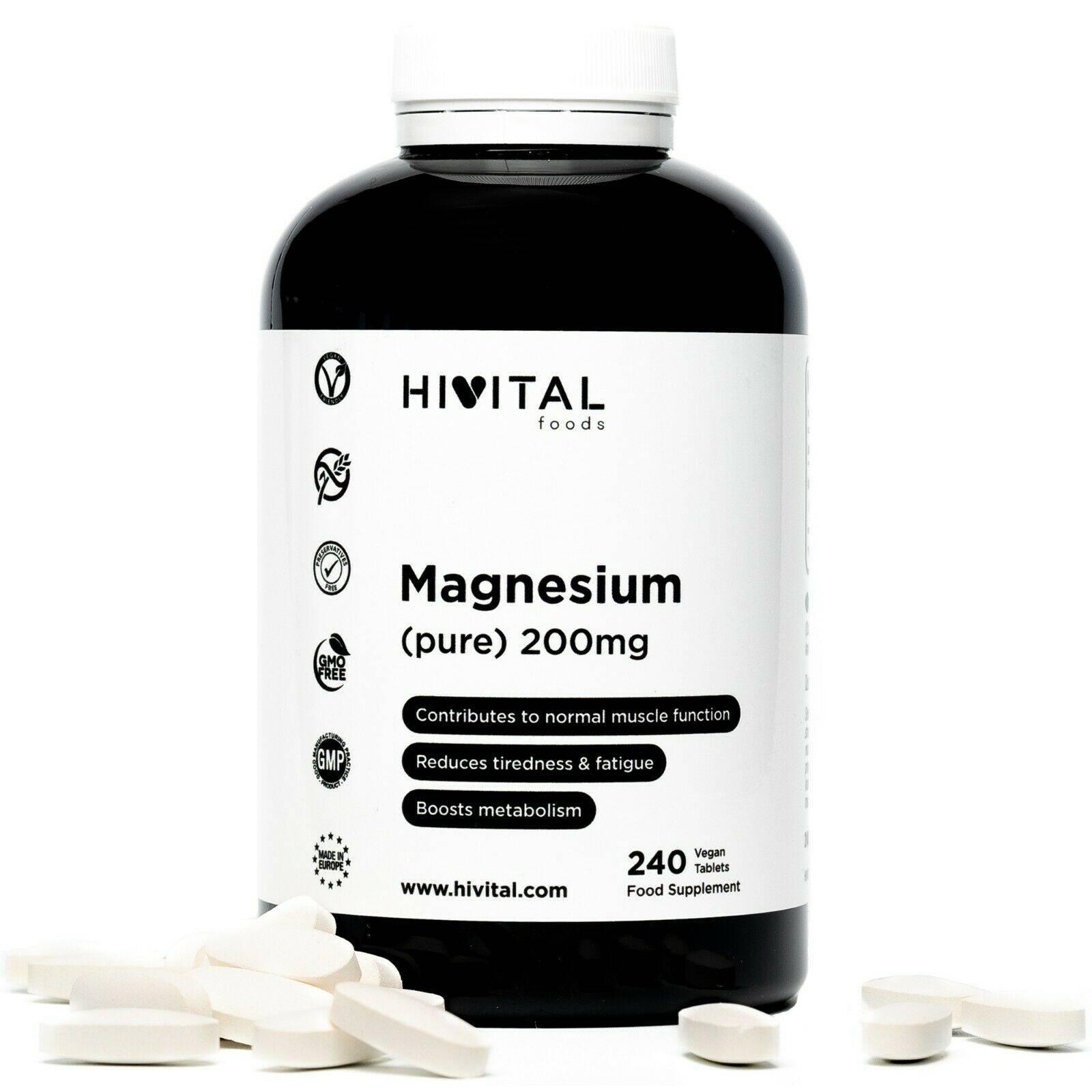 www.LaBotika.es ✅ ▷ Magnesio puro ✅ 200 mg | 240 comprimidos (Suministro para 8 meses)
